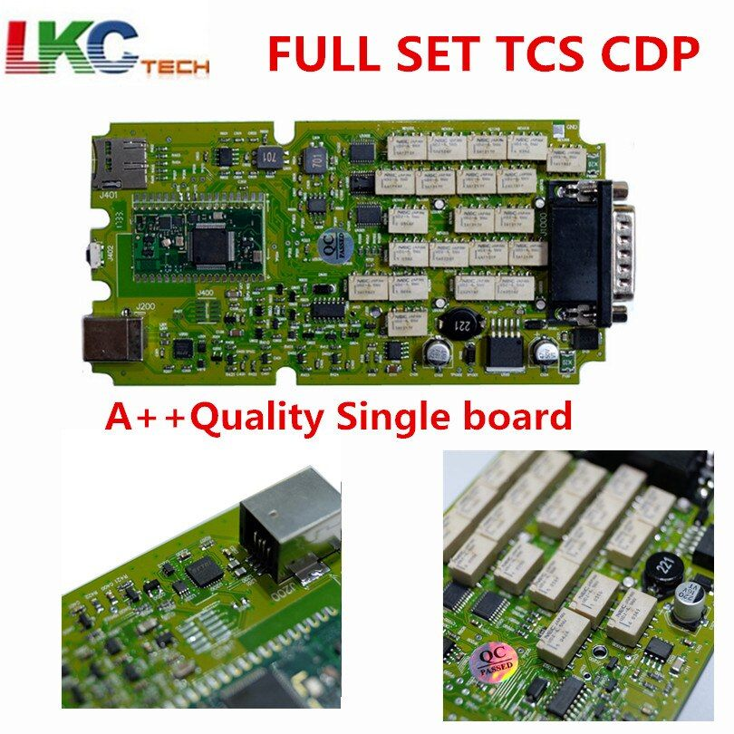 A++ Quality Latest 2015.1 /2014.2 with Keygen Single Green PCB board TCS CDP Pro with Bluetooth cars&Trucks Diagnostic Scanner