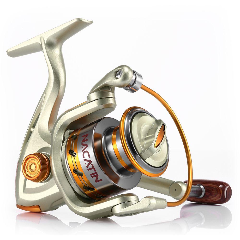 Nacatin NA1000-7000 12BB 5.2: 1 moulinet de pêche à la mouche en métal pour pêche en mer en eau douce/salée moulinet de pêche à la carpe