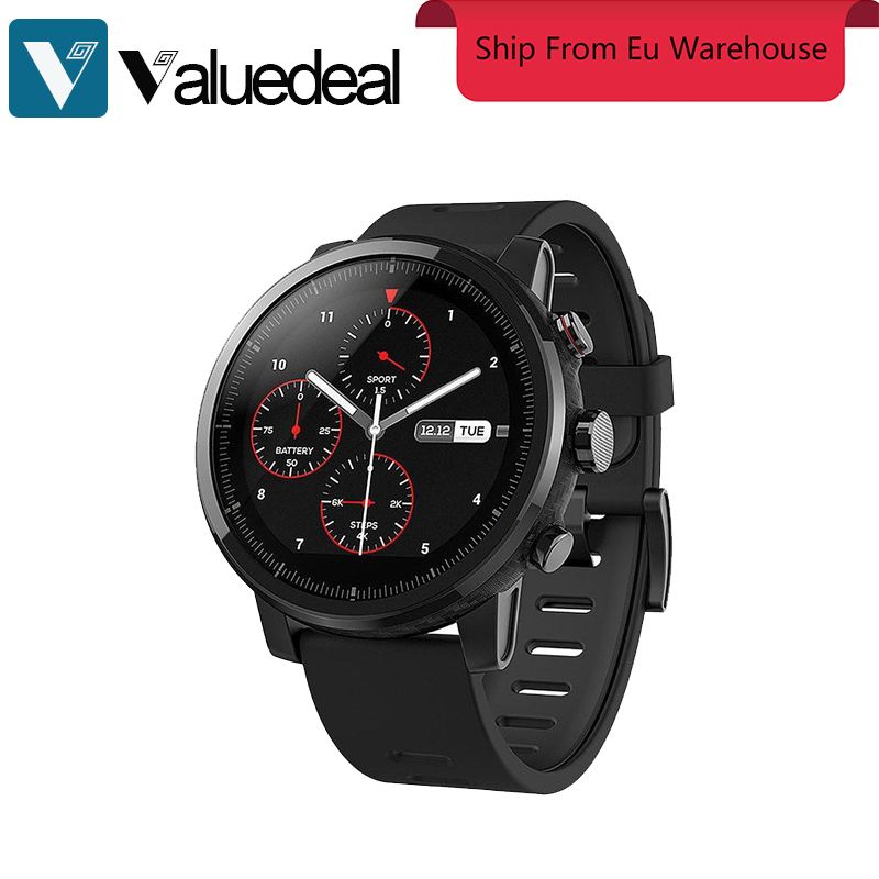 In stock English version Xiaomi HUAMI AMAZFIT Stratos Smart Sports Watch 2 Version smartwatch 5ATM Water Resistant GPS Firstbeat