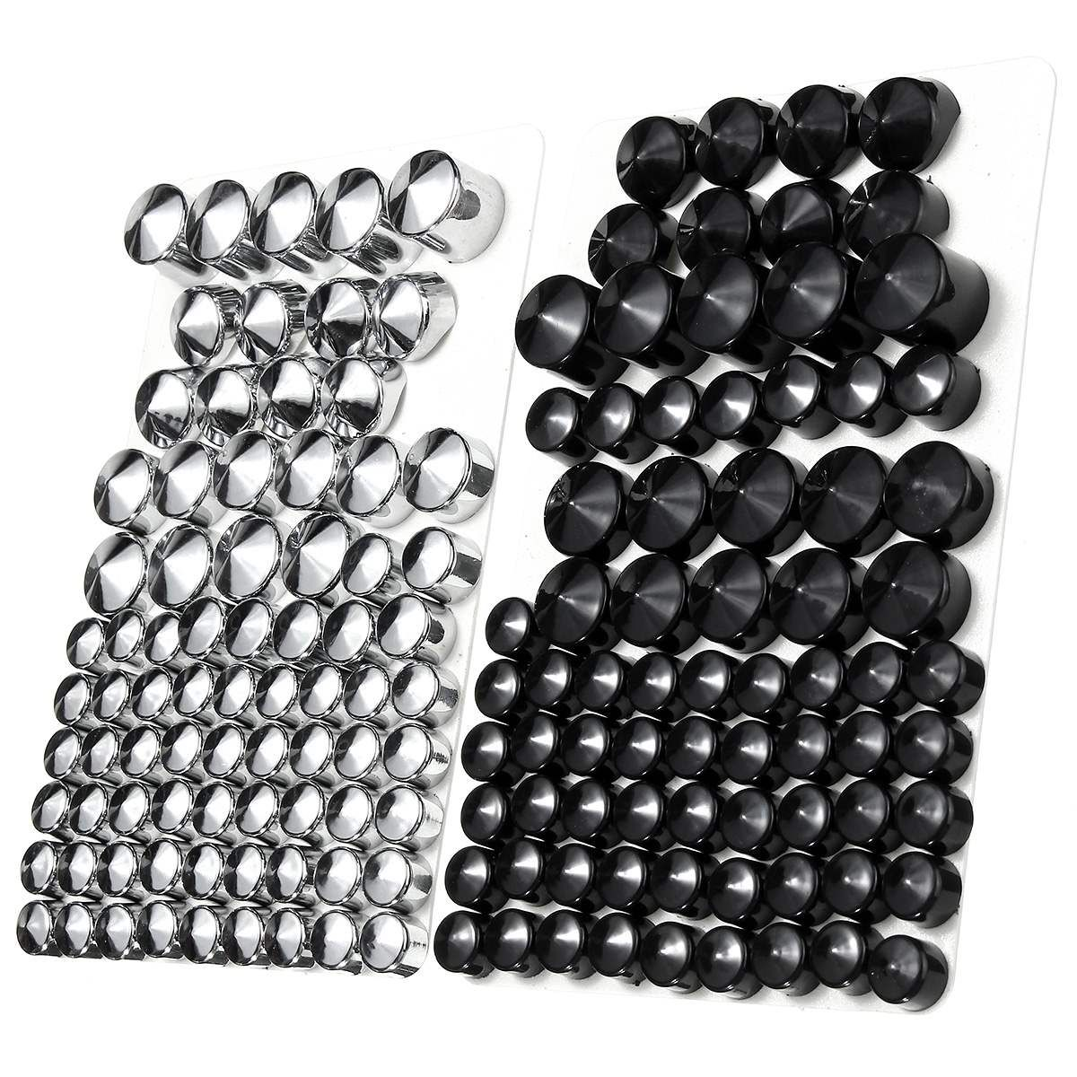 76pc Motorcycle Screw Bolt Topper Caps Cover For Harley-Davidson Twin Cam/Dyna 1991-2013 UK ABS Plastic Chrome Black
