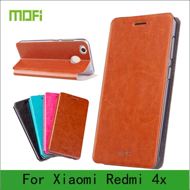 Cas Mofi Pour Xiaomi Redmi 4X Cas Flip Book Style Haute Qualité Mobile Téléphone Cas Pour Redmi 4X Couverture de Stand