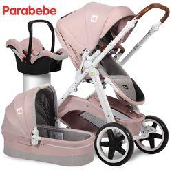 EU Standar Kereta Dorong Bayi 3 In 1 Carrycot Kursi Mobil Dan kursi dorong Untuk 0-3 Tahun Eropa Stroller Mewah Mobil Kereta Bayi