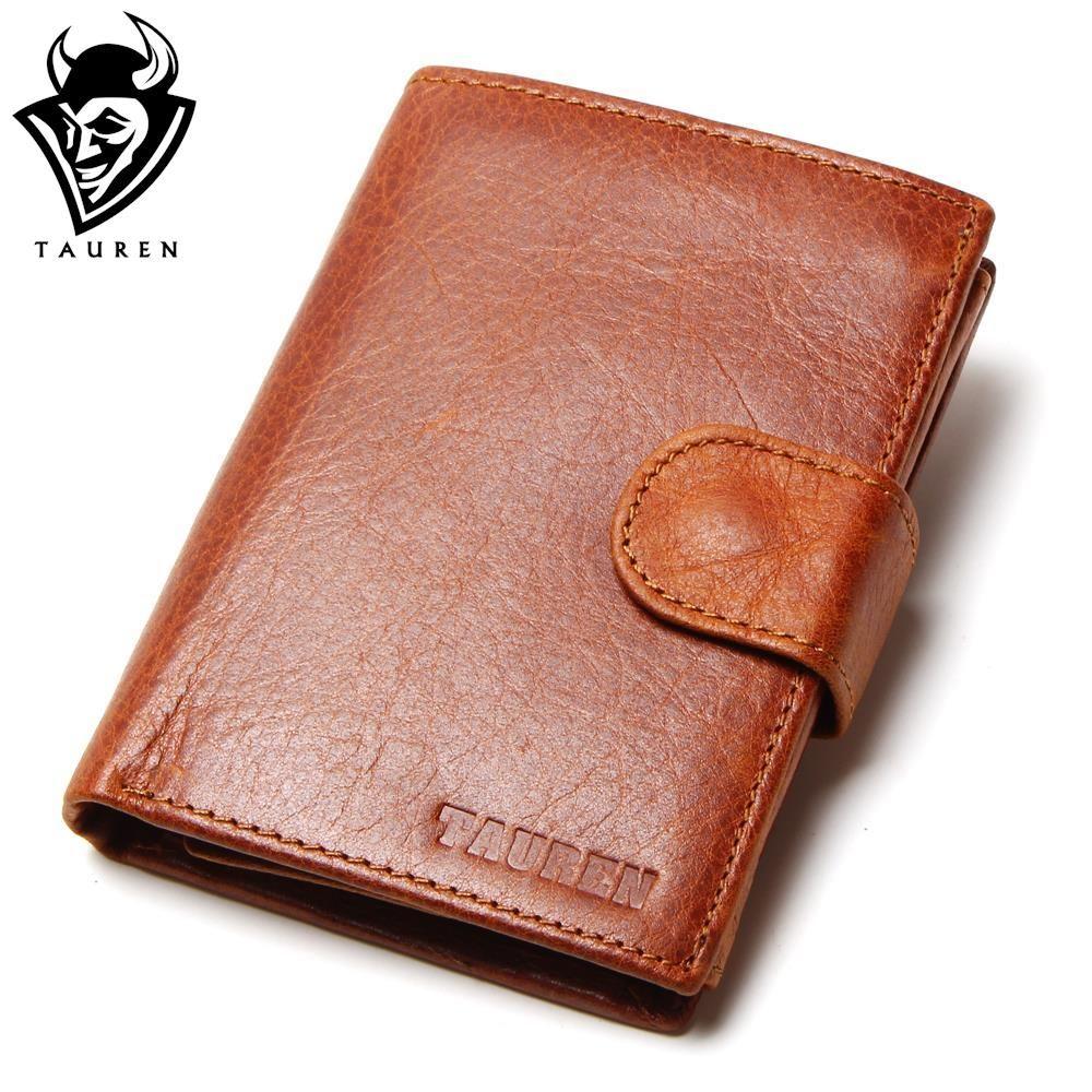 Vintage Casual 100% Genuine Oil Wax Leather Cowhide Men Short Bifold Clutch Wallet Wallets Purse Card Holder Coin Pocket For Men