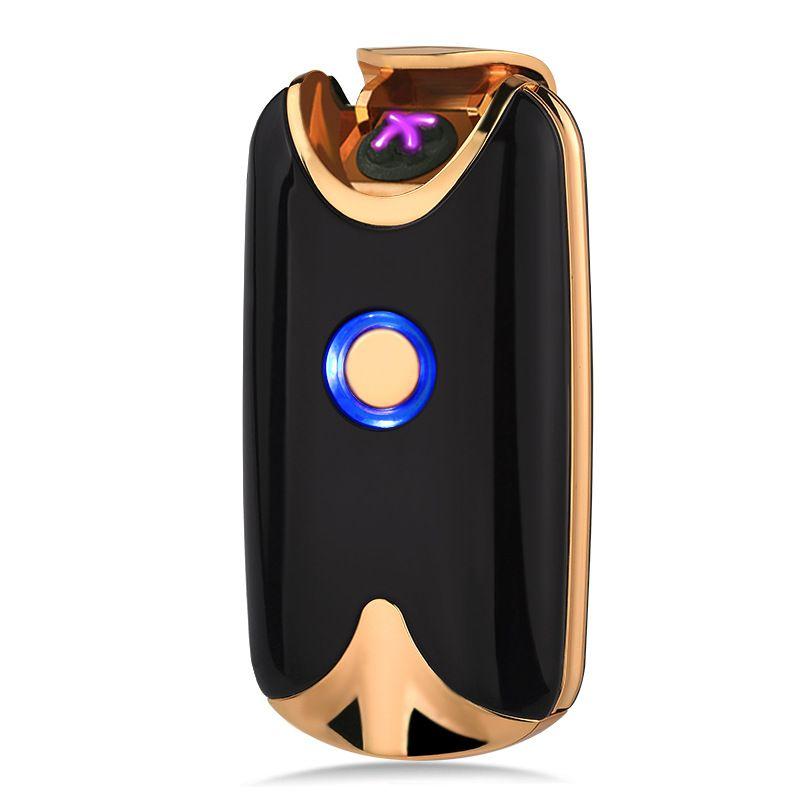 Intelligente USB Arc Léger Double Feu Arc Léger D'empreintes Digitales Induction De Charge En Métal Coupe-Vent Aucun Gaz Fumeur Cigarettes Cadeau