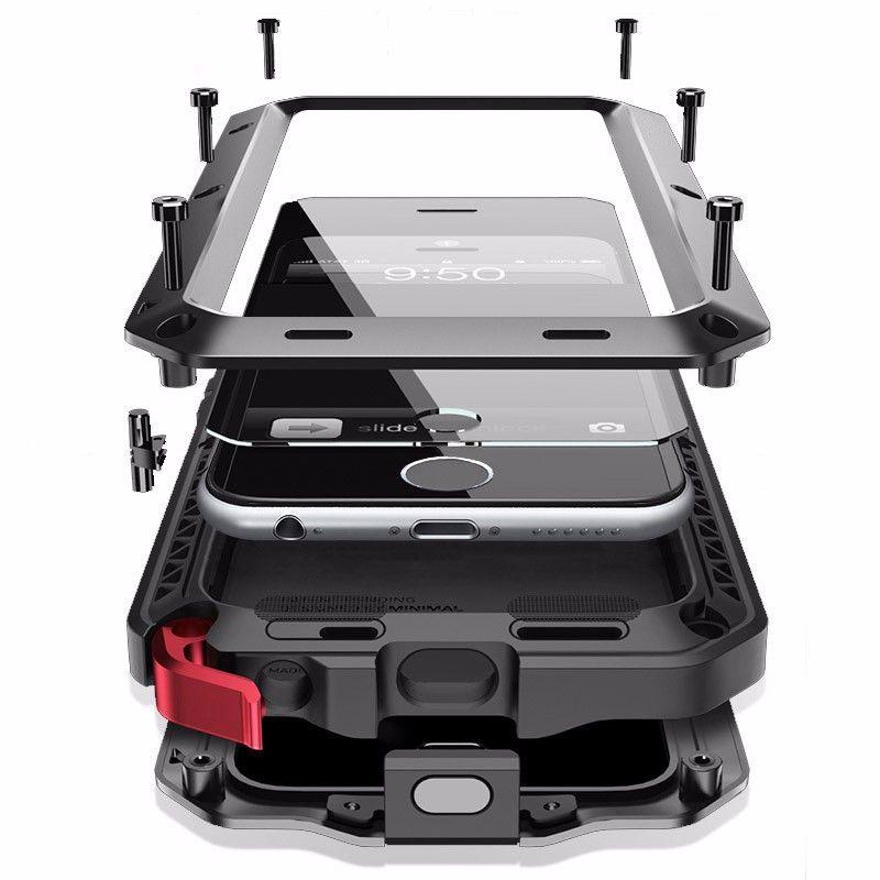 Housse De Protection En Métal De Luxe pour iPhone 11 11Pro 6S 7Plus Antichoc étui pour samsung Galaxy Note9 S10 S9 S10Plus S8 S8Plus
