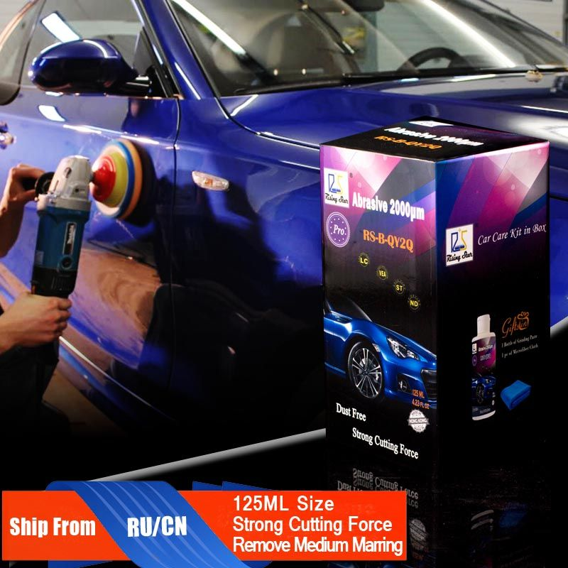 Rising Star RS-B-QY2Q Abrasive 2000um 125ml Kit for Professionals Car Paint Polishing Paste to Remove and Repair Scratches