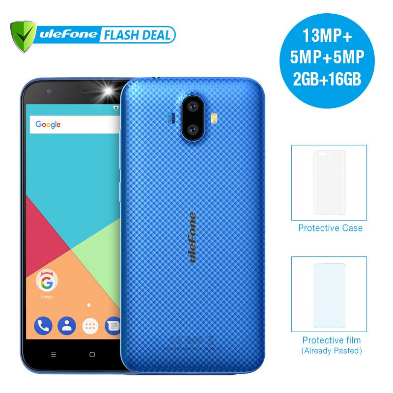 Ulefone S7 Pro 2GB ROM+16GB RAM Mobile Phone 5.0 inch HD display Dual Camera HD MTK6580 Quad Core Android 7.0 3G WCDMA Cellphone