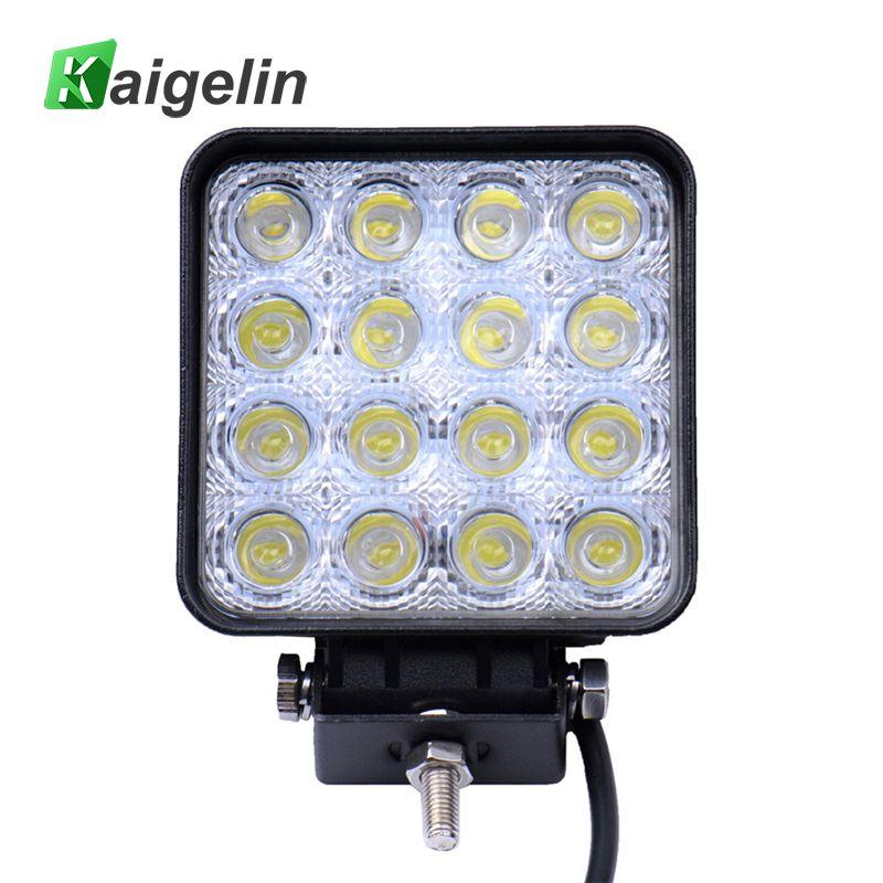 1 PCS/LOT 48W Spotlight 16 X 3W Car LED Work Light Bar Drive Lamp Spot Light For Indicators Motorcycle Driving Offroad Boat Car