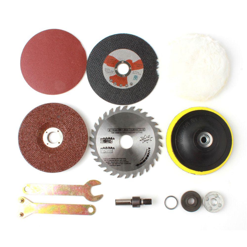 8 Pcs/ensemble Bois Kit Conversion de Métal Tige Accessoires pour Fonction Outils Perceuse Électrique Changement à Angle Grinder Cutter