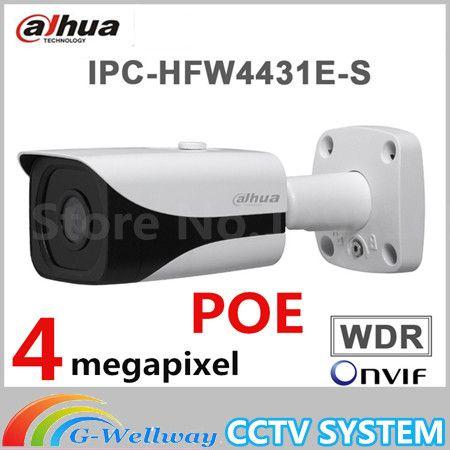 DAHUA 4MP WDR IPC-HFW4431E-S H.265 Fixed Lens3.6mm IR40m Network waterproof IP67 smart detection Bullet IP Camera HFW4431E-S