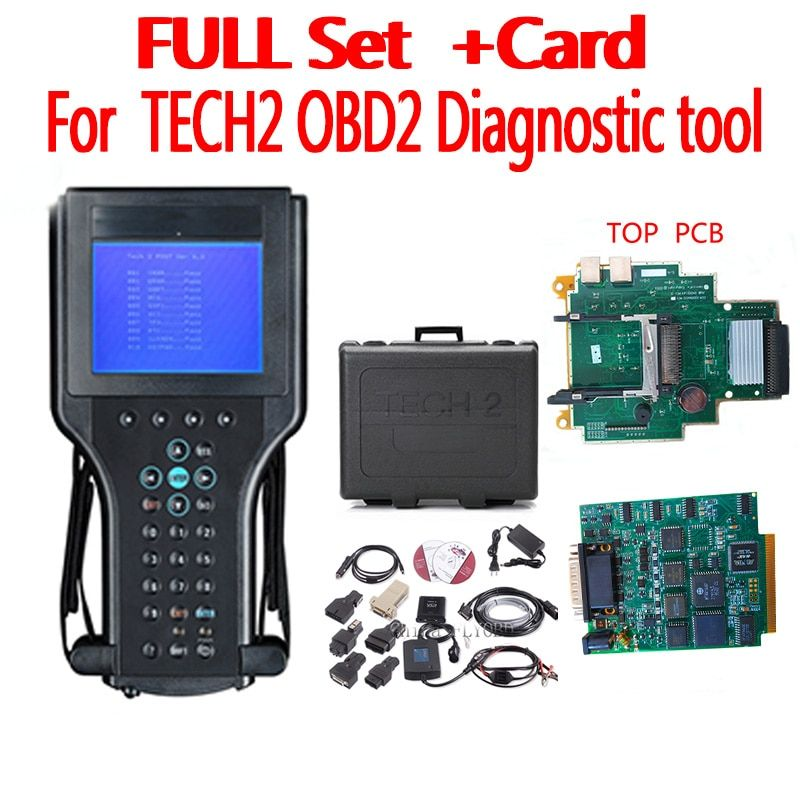 Top Qualität tech2 diagnose werkzeug mit 32 mb opel SAAB software Speicher karte für 6 marke fahrzeuge isuzu scanner mit kunststoff box