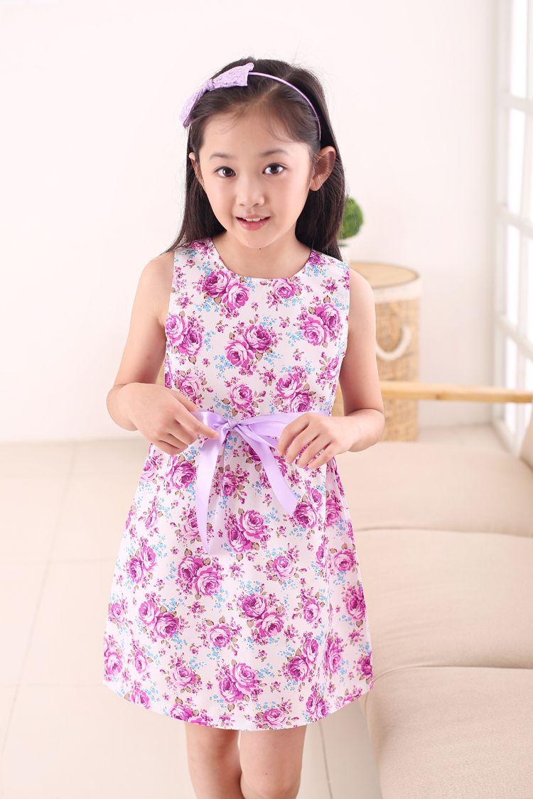 Mode au détail enfants blanc rouge arc à la mode fleur Vestidos Infantis robe filles d'été fête d'anniversaire fleur princesse robe 3-12y