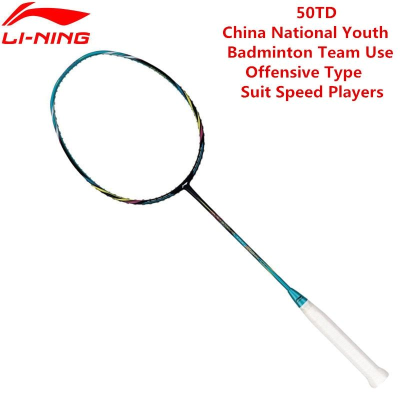 Li Ning PM Ball Steuer 50TD Professionelle Badminton Schläger AYPK094/AYPK082 Li Ning 3U Schläger Sport Mit 1 stücke Freies Over
