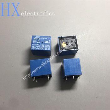 Livraison gratuite 5 PCS Relais SRD-12VDC-SL-C SRD-24VDC-SL-C SRD-48VDC-SL-C 12 V 24 V 48 V 10A 250VAC 5PIN T73