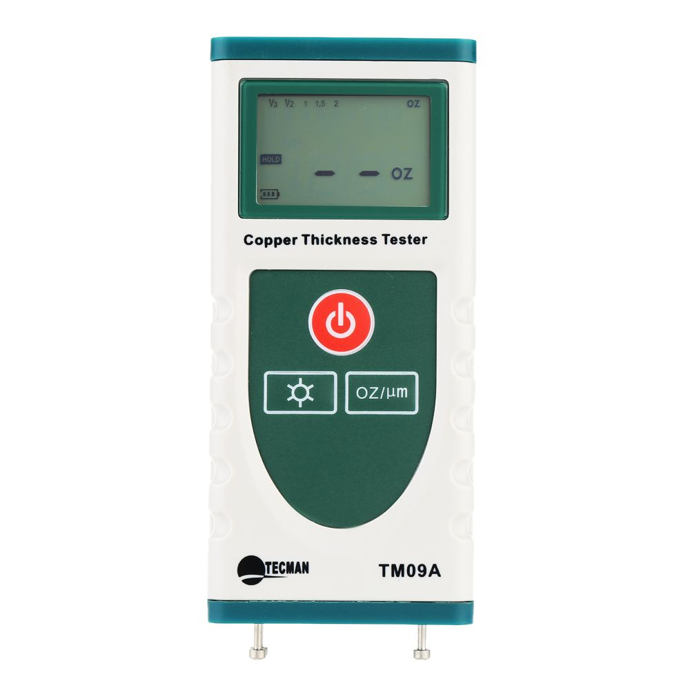 TM09A High Precision Digital Copper Foil Thickness Tester Gauge for PCB Copper-clad Meter LCD Backlight 0 OZ to 2 OZ.