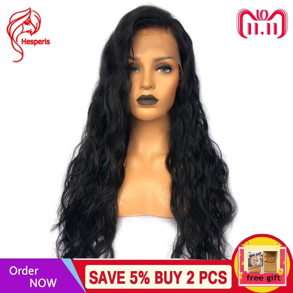 Hesperis Full Lace Human Hair Wigs With Baby Hair Pre Plucked Body Wavy Full Lace Wig Brazilian Remy Glueless Full Lace Wigs