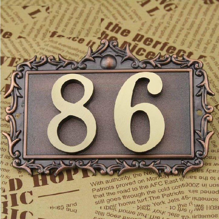 2 Chiffres bronze classique Européenne Style Pur cuivre maison Porte nombre carte Villa appartement numéro quatre chiffres Livraison Gratuite