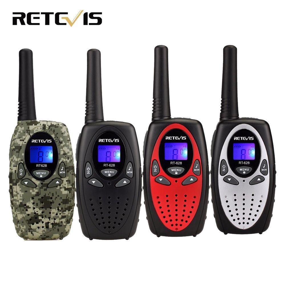 2 pcs 4 couleur Mini Talkie Walkie Enfants Radio RETEVIS RT628 0.5 W UHF Fréquence Portable Ham Radio Hf Émetteur-Récepteur cadeau A1026B