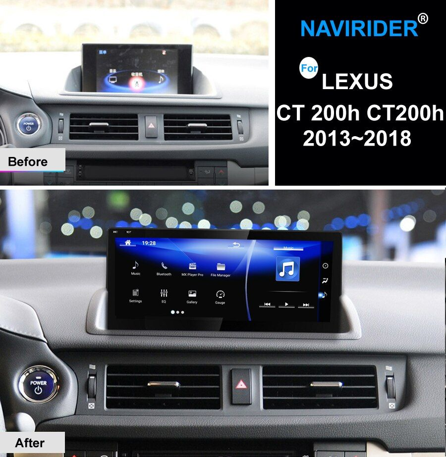 NAVIRIDER Android 7.1 Auto multimedia 10,25 Für Lexus CT 200 h CT200h 2013 ~ 2018 Carplay GPS Navi Player Radio stereo WiFi KEINE DVD