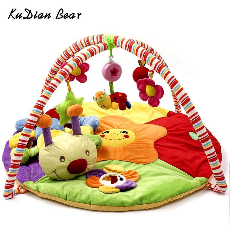 KUDIAN BEAR Soft Baby Play Mat Musical Toys for Children Puzzle Carpet Mat Crawling Mat Baby Gym Mat BYC159 PT49