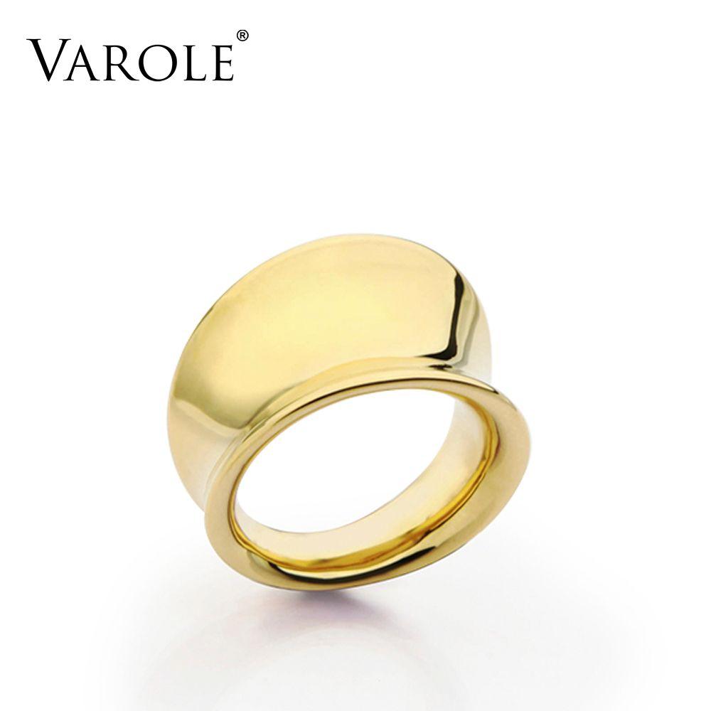 VAROLE Surface lisse anneaux conception Simple or couleur Midi anneau Knuckle anneaux pour femmes bijoux Bagues Anillos Mujer Anel