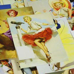 30 pcs/lot New Vintage Fille Elvgren Marilyn Monroe Van Gogh de noël cartes de voeux cartes postales ensemble/Carte-Cadeau/Post carte 8 conception