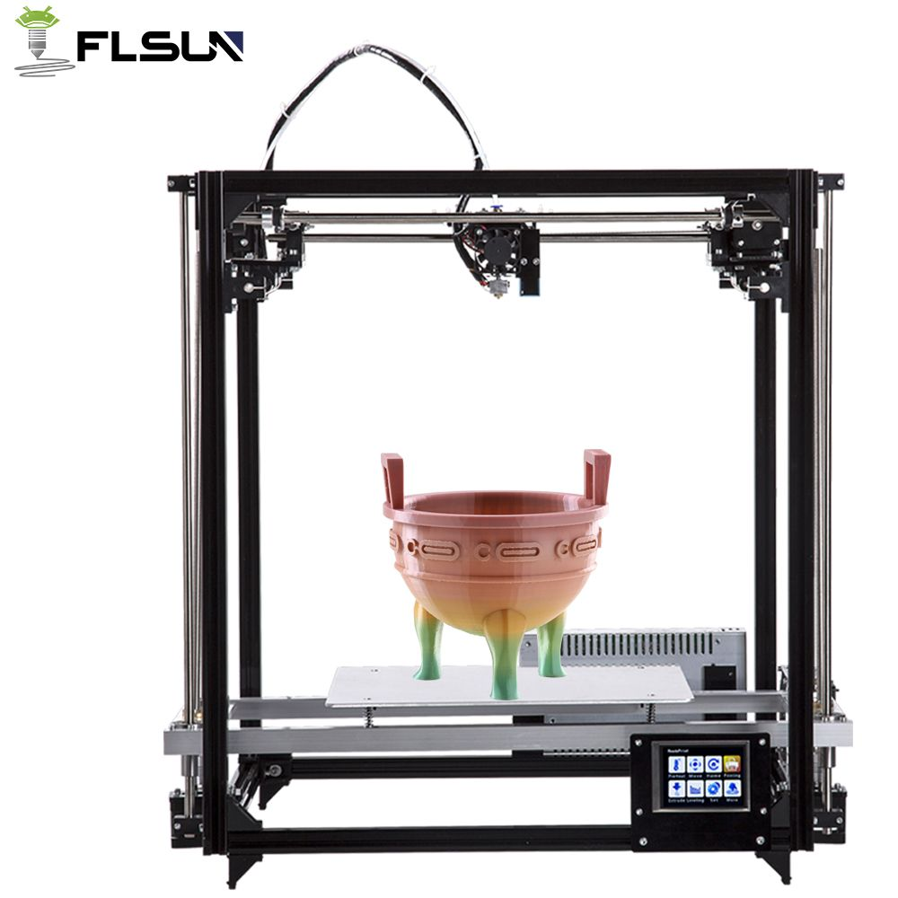 Flsun High Precision Metal Frame Cube 3D Printer Touch Screen Support Large Printing Area 260*260*350mm Auto-Leveling Fast Ship