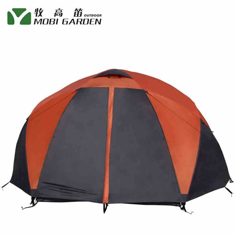 New Arrival Aluminum Poles Double Layer Ultralight 4-6 Person Waterproof 4 Season Camping Tent Large Gazebo Barraca