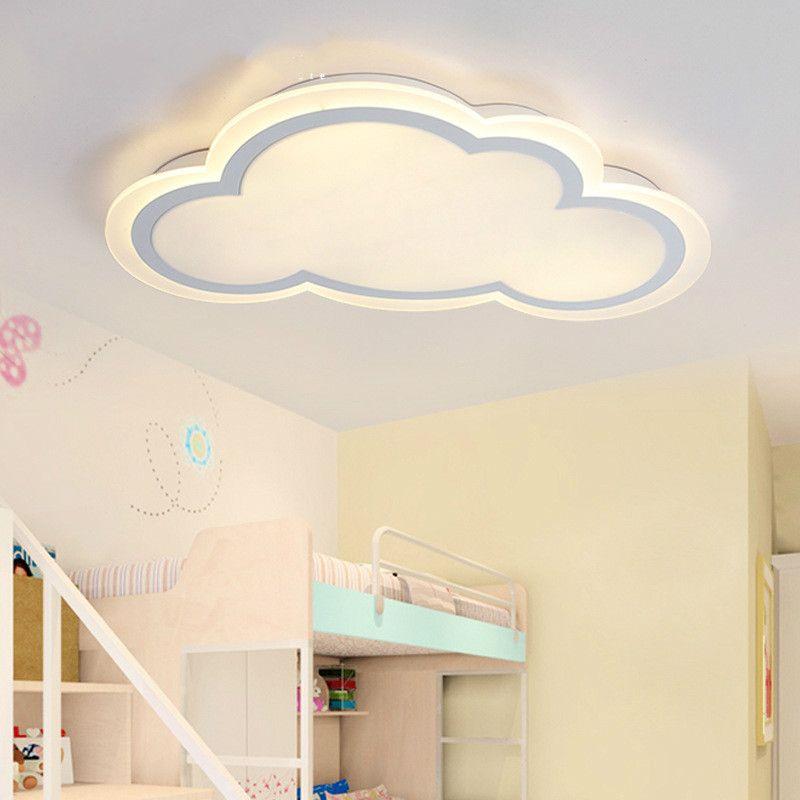 Modern minimalist ultra-thin cloud acrylic led ceiling light creative personality white iron children room lighting AC110-240V