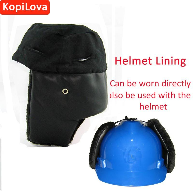 Kopilova Winter Outdoor Cold-proof Hat Lining Anti-wind Work Protective Hard Hat Adult Work Cap Can Use on Helmet Free Shipping