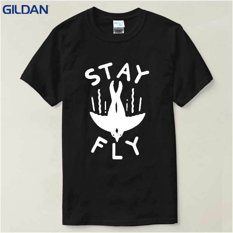 Free Shipping 2017 Stay Fly Men's Fly Fishinger Short Sleeve T-Shirt high quality top tees