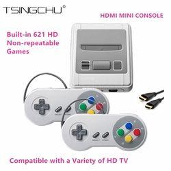 TSINGO New Super Mini HDMI Famille TV Jeu Vidéo Console Rétro classique HD Sortie TV De Poche Game Player Intégré Dans 621 Jeux 8Bit