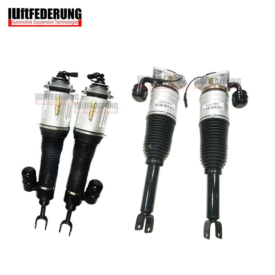 Luftfederung Bentley 2pcs Rear + 2pcs Front Air Ride Shock Suspension Air Spring Assembly 3W5616002D(01D) 3D0616040AD(39AD)