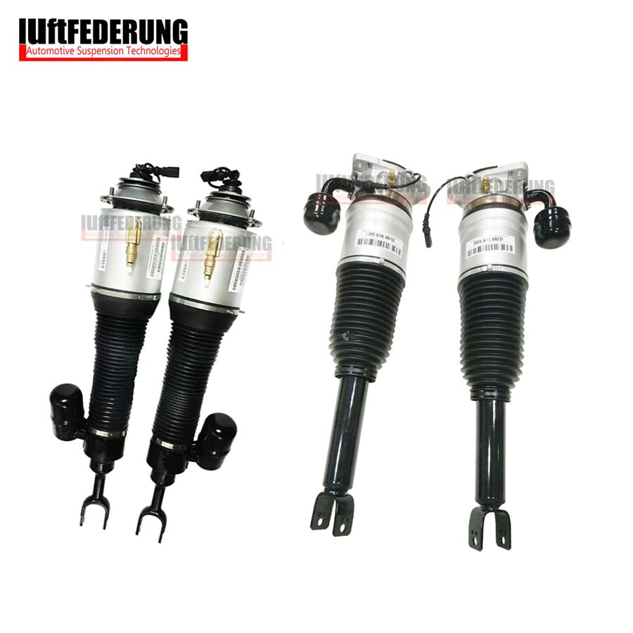 Luftfederung Bentley 2pcs Rear + 2pcs Front Air Ride Shock Suspension Air Spring Assembly 3W5616002D(01D) 3D0616040AD(39AD)