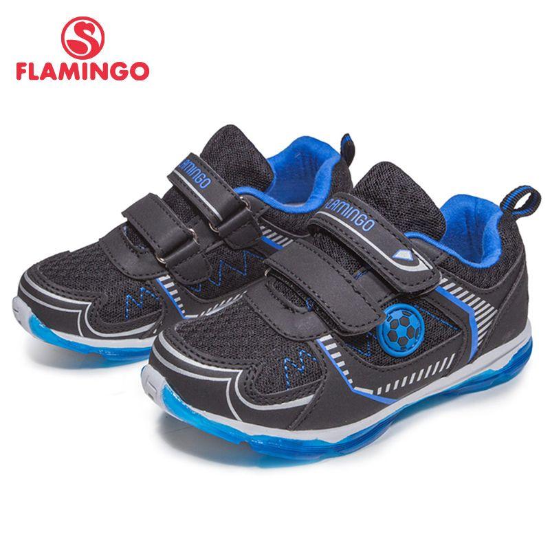 Фламинго 2018 новая мода высокое качество печати удобные Весна и осень дышащая Hook & Loop кроссовки для мальчиков 81k-bk-0590