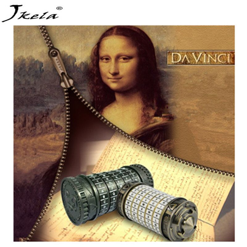 [Jkela] Leonardo da Vinci Educational toys Metal Cryptex locks gift ideas Christmas gift to marry lover escape chamber props