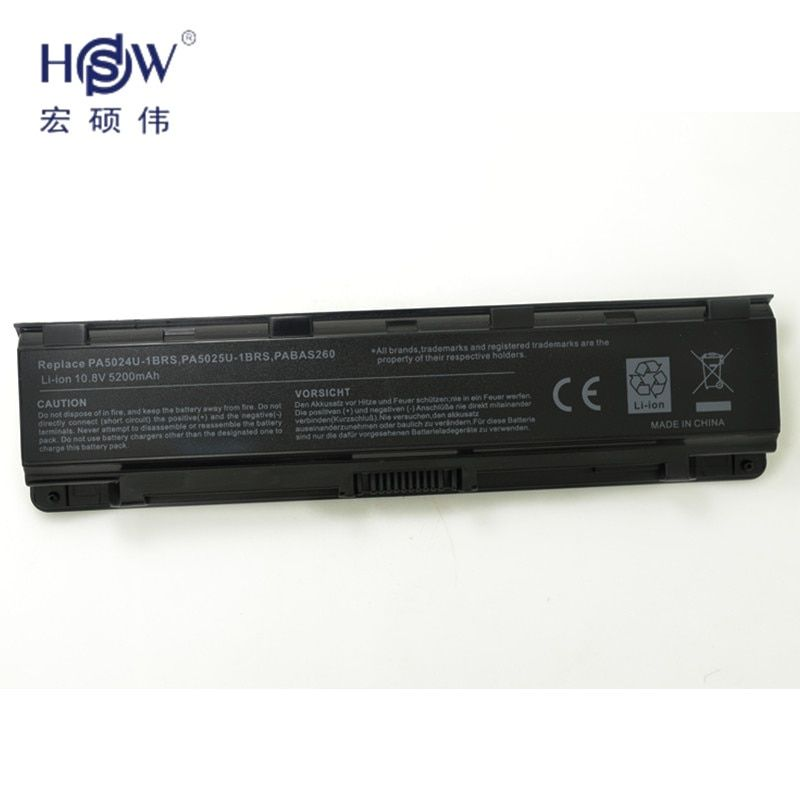 HSW rechargeable laptop battery for Satellite C870 C870D S855 S855D S850 S875 S875D P855 P855 C800 C800D PA5024 bateria akku