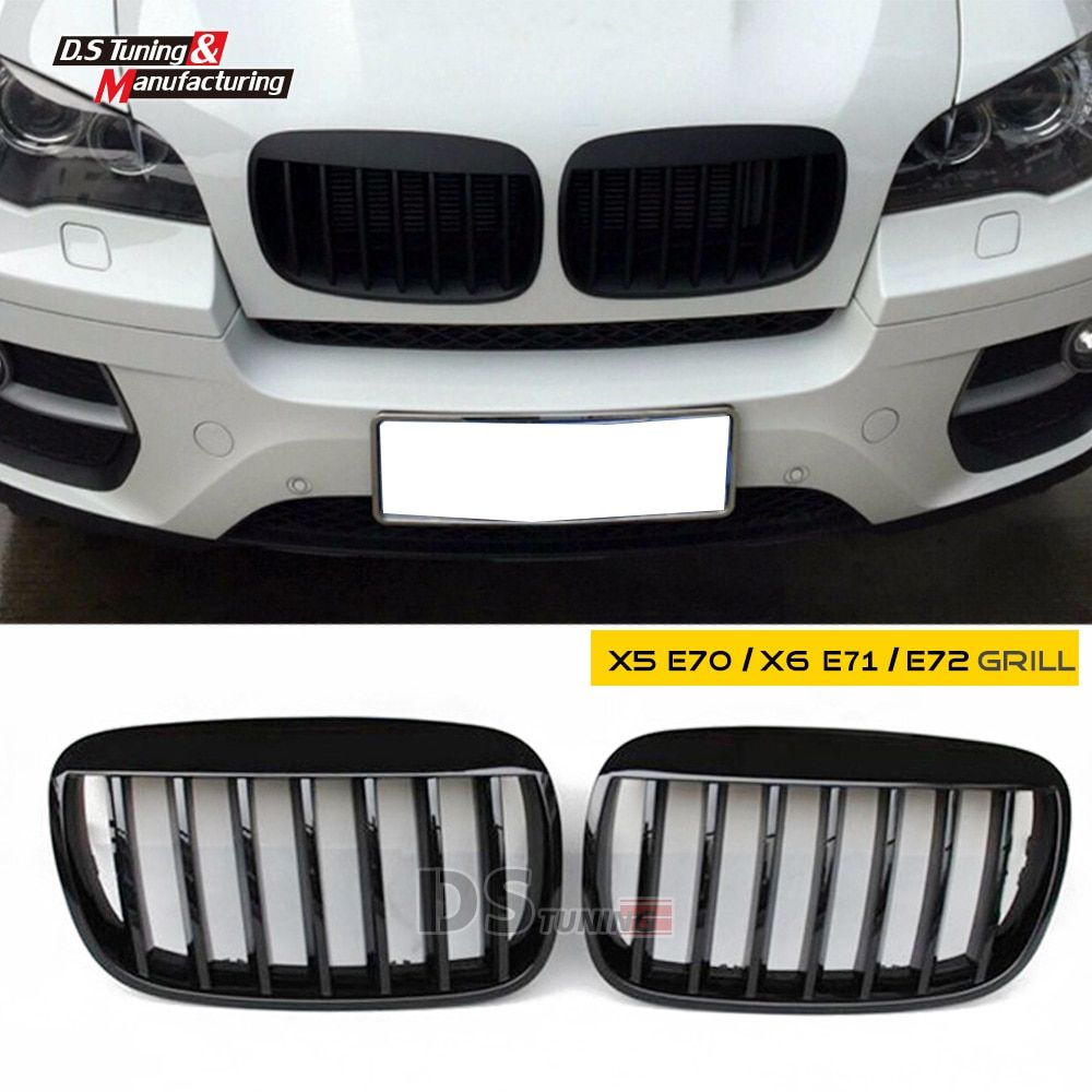 x5 e70 x6 e71 abs material single slat front grid hood grille grill for bmw e70 e71 2008 - 2014 model