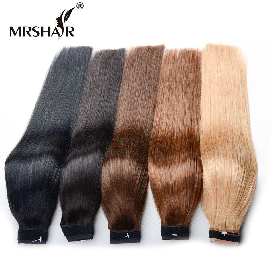 MRSHAIR 60g Machine Made Remy Human Hair Ponytails 18