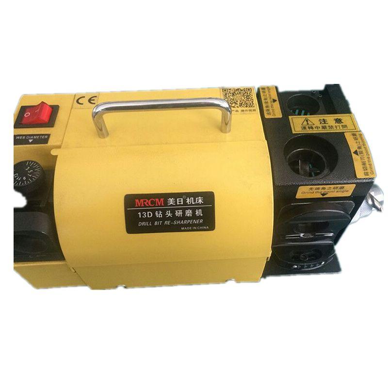 Bohrer Grinder 3-13mm 100-135 Schleifen Maschine Spitzer Winkel Tragbare Gelb MR-13D