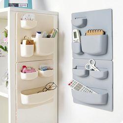 Home Storage Wall Suction Cup Plastic Storage Rack Cosmetic Toiletries Sundries Storage Holder Bathroom Organizer