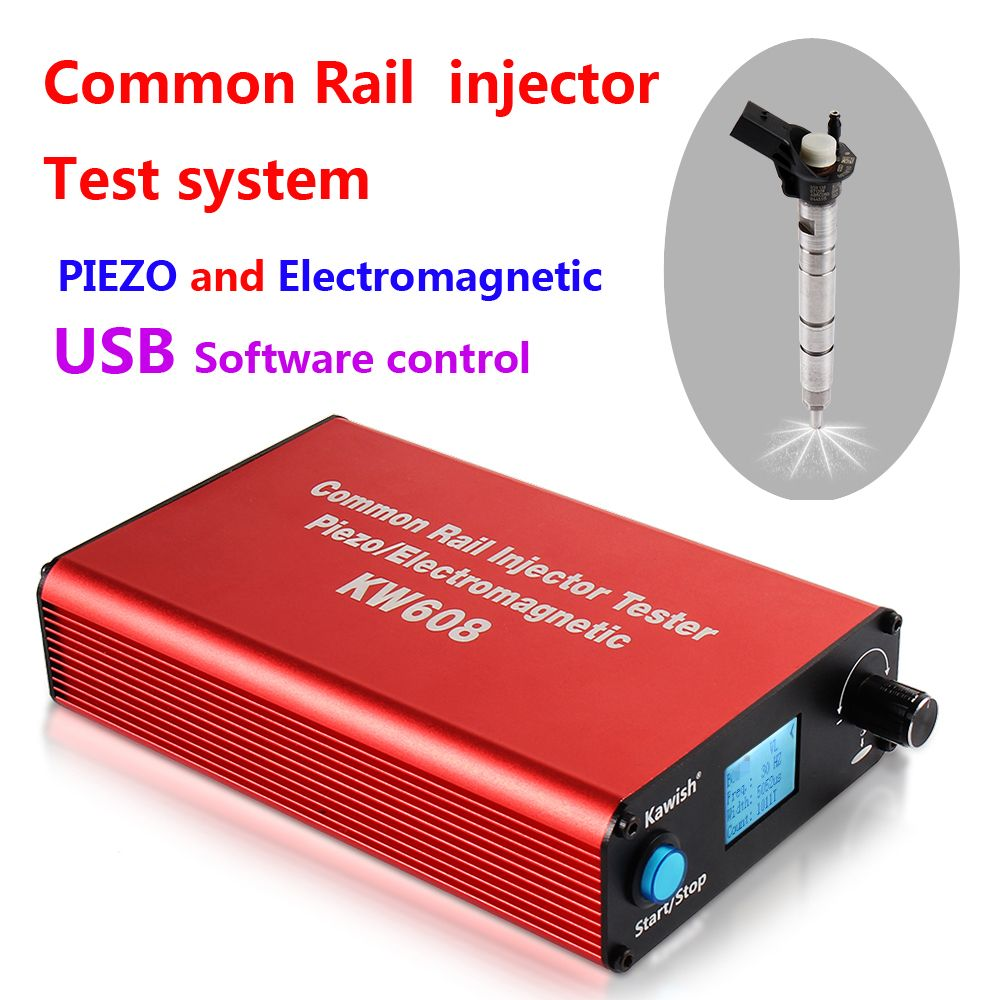 2018 Promotion New Arrival! Kw608 Multifunction Diesel Common Rail Injector Tester Piezo Injector Tester Usb Injector Tester
