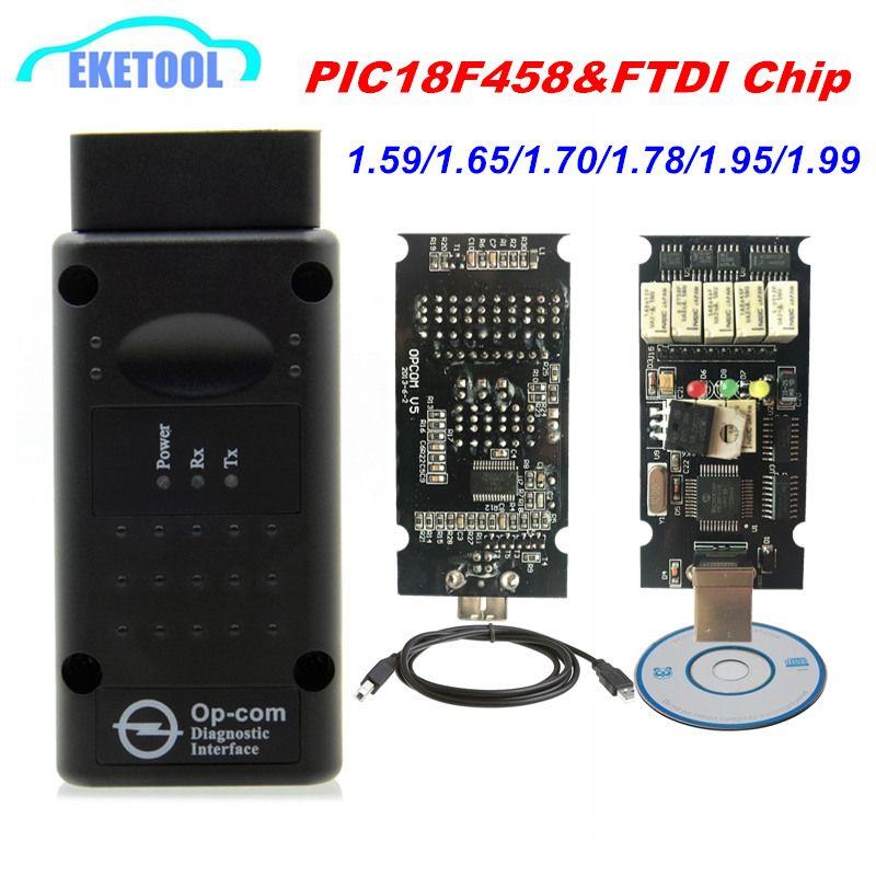 Newt Firmware OPCOM 1.99 1.95 1.78 1.70 1.65 OBD2 CAN-BUS Code Reader For Opel OP COM OP-COM Diagnostic PIC18F458 FTDI Chip