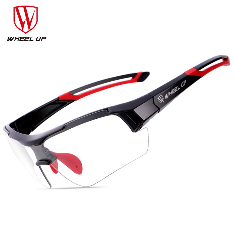 <font><b>WHEEL</b></font> UP Photochromic Cycling Glasses Discoloration Glasses MTB Road Bike Sport Sunglasses Bike Eyewear Anti-UV Bicycle Goggles
