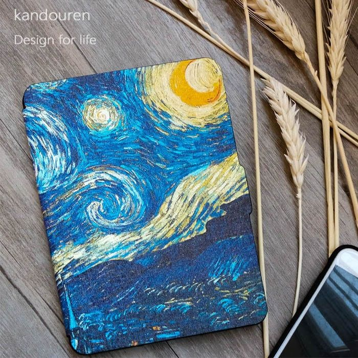 Kandouren - Case for Kindle Paperwhite Van Gogh Design skin,Cover Fit KindlePaperwhite 2013 2015 2016 2017 6th generation