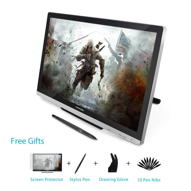 HUION GT-220 V2 21.5 Inch Pen Display Digital Graphics <font><b>Drawing</b></font> Tablet Monitor IPS HD Pen Tablet Monitor 8192 Levels with Gifts