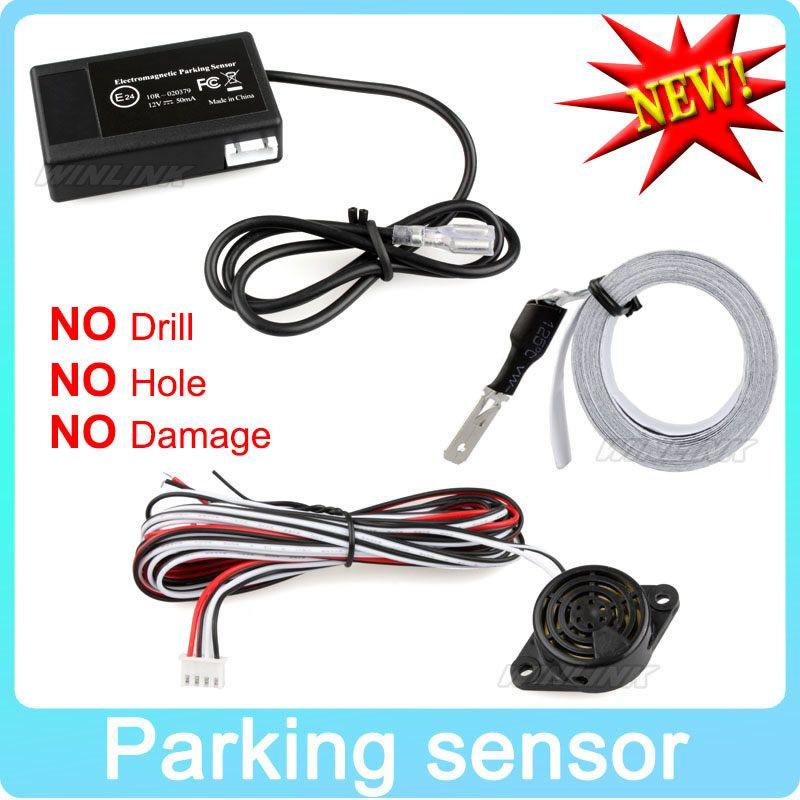 Capteur de stationnement électromagnétique de voiture chaude pas de trous \ installation facile Radar de stationnement