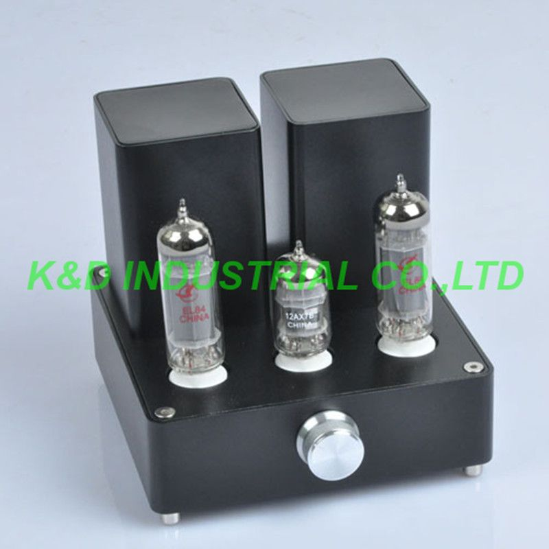 1pc Black Mini Vacuum Tube AMP Audio Amplifier APPJ EL84 12AX7B Class A power Amp