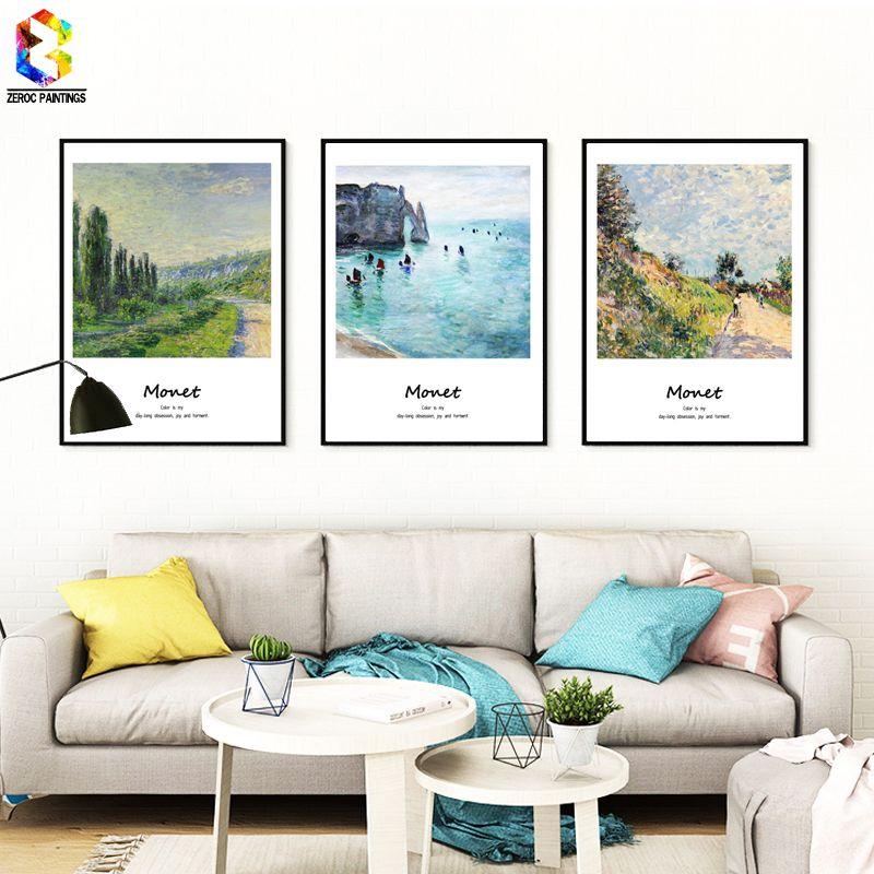 Monet Célèbre Peinture Toile Art Print Affiche Mur Photo pour Salon Décoration Abstraite Décor À La Maison