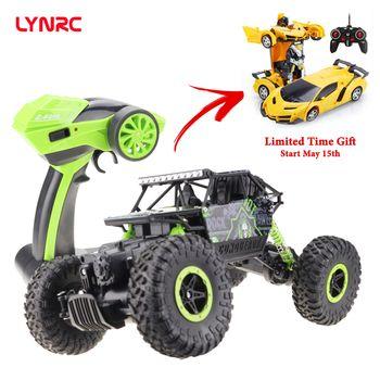 Lynrc RC Car 4WD 2.4GHz climbing Car 4x4 Double Motors Bigfoot Car Remote Control Model Off-Road Vehicle Toy
